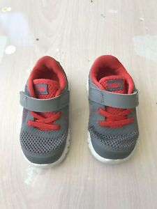 10b0cfd35c613 Nike Toddler Little Kids Sneakers Size 5 Gray and Red Color with ...