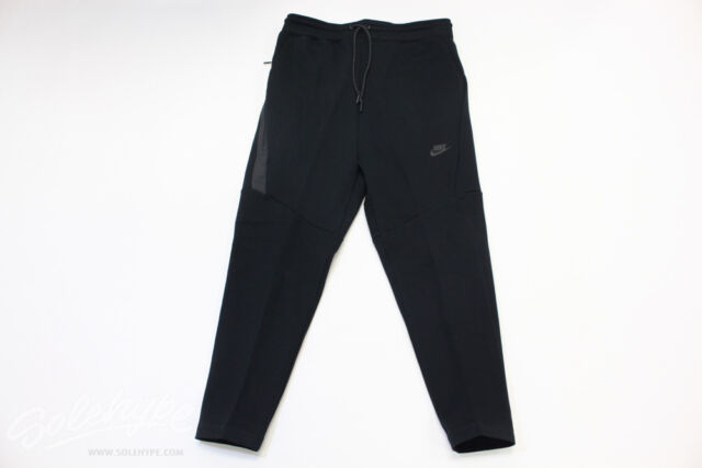 da22495f98a6 Nike Tech Fleece Cropped Tapered Pants Sz Medium Triple Black 727355 ...