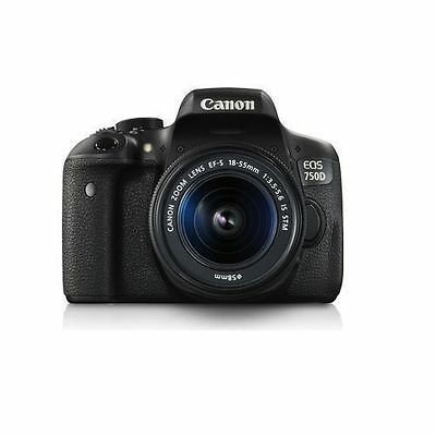 New Canon EOS 750D Kit EF-S18-55mm IS STM DSLR Camera, Canon BAG !!.