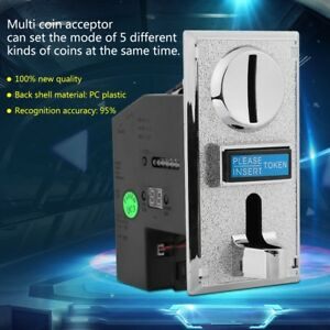 Multi-Coin-Acceptor-Selector-Slot-for-Arcade-Gaming-Vending-Machine-Game-Control