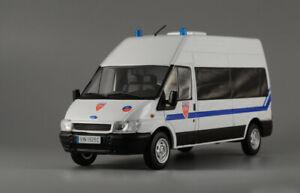FORD-Transit-CRS-POLIZIA-FRANCESE-Van-Bianco-2010-ANNO-1-43-SCALA-DIECAST-MODELLO-AUTO