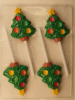 Tree With Star Decorate Lollipop Christmas Chocolate Candy Mold Party Favor