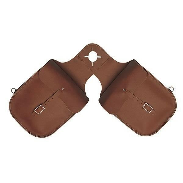 Weaver Leather Chap Leather Pommel Bag Fits over Saddle Horn Marroneee