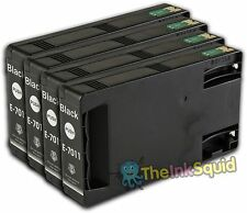 4 Black T7011 non-OEM Ink Cartridge For Epson Pro WP-4525DNF WP-4535DWF