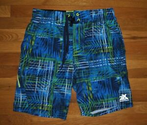 f140f2ad27 NWT Mens ZeroXposur Blue Stretch Swim Shorts Trunks Swimsuit UV Size ...