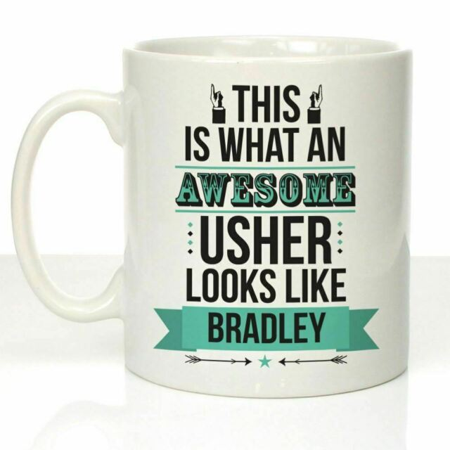 Personalised Awesome Usher Mug Thank You Brother Best Friend Wedding Day Gifts