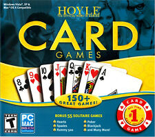 Hoyle Card Games 2008  PC Mac Blackjack Poker Spades Hearts Rummy 500 Solitaire
