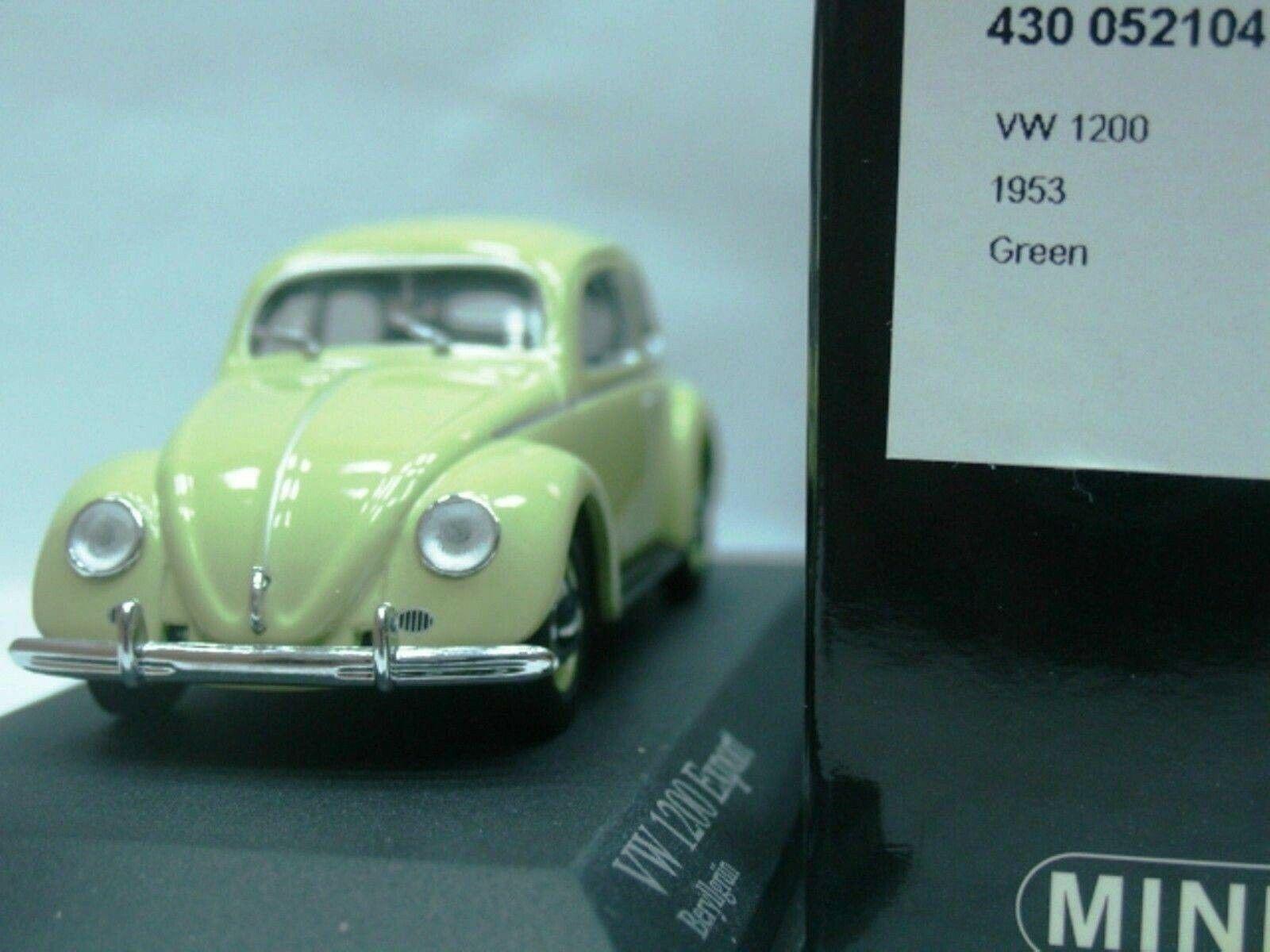 WOW EXTREMELY RARE VW Beetle Käfer 1200 1953 B.Green Oval Window 1 43 Minichamps