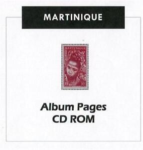 Martinique CD-Rom Stamp Album 1886- 1947  Color Illustrated Album Pages