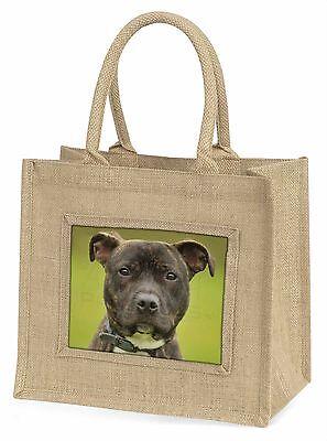 Staffordshire Bull Terrier Große Natürliche Jute-einkaufstasche Weihnachten,