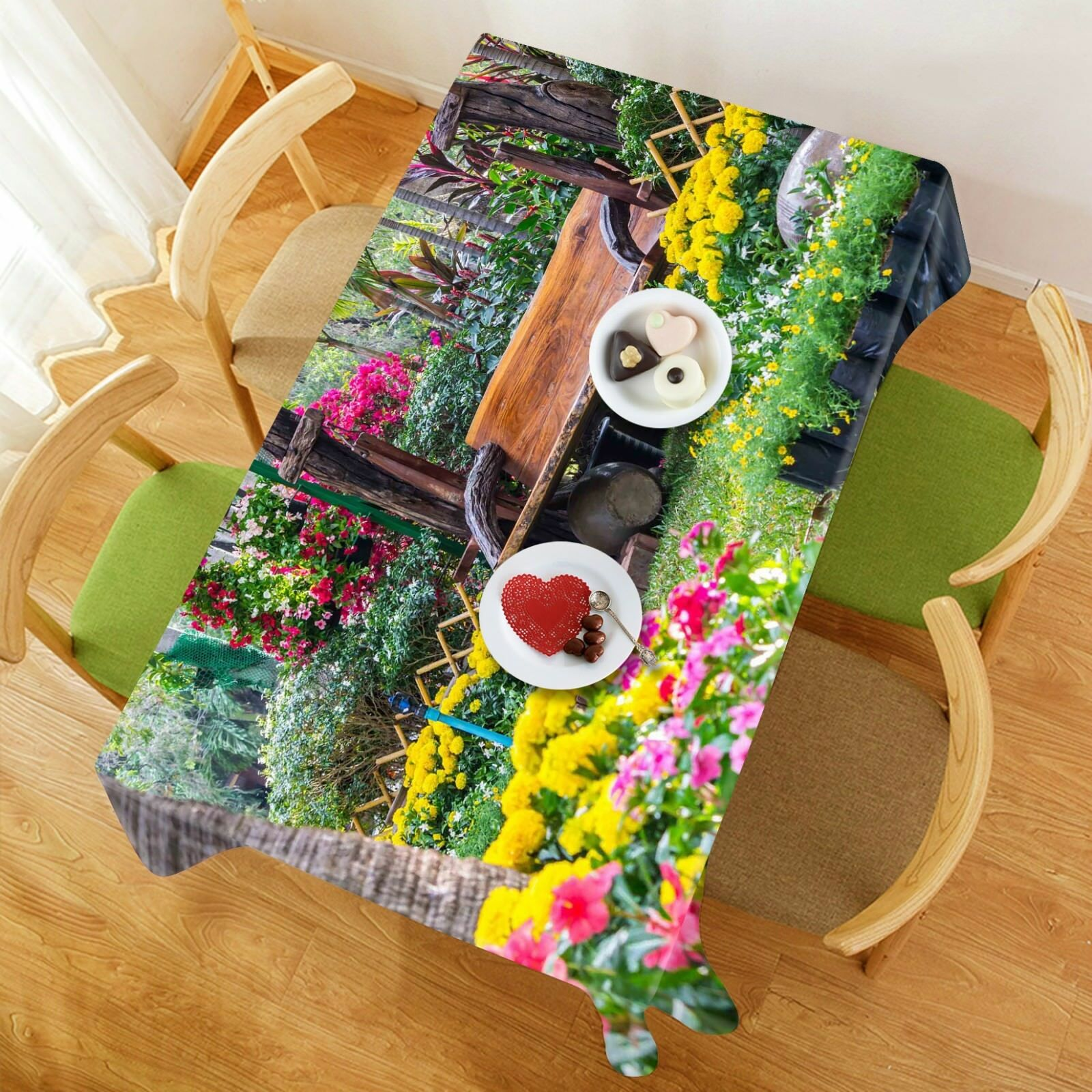 3D Flowers Lawn 06 Tablecloth Table Cover Cloth Birthday Party Event AJ Jenny