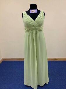 BNWT-Christina-Wu-dress-size-18-kiwi-green-chiffon-bridesmaid-prom-or-evening
