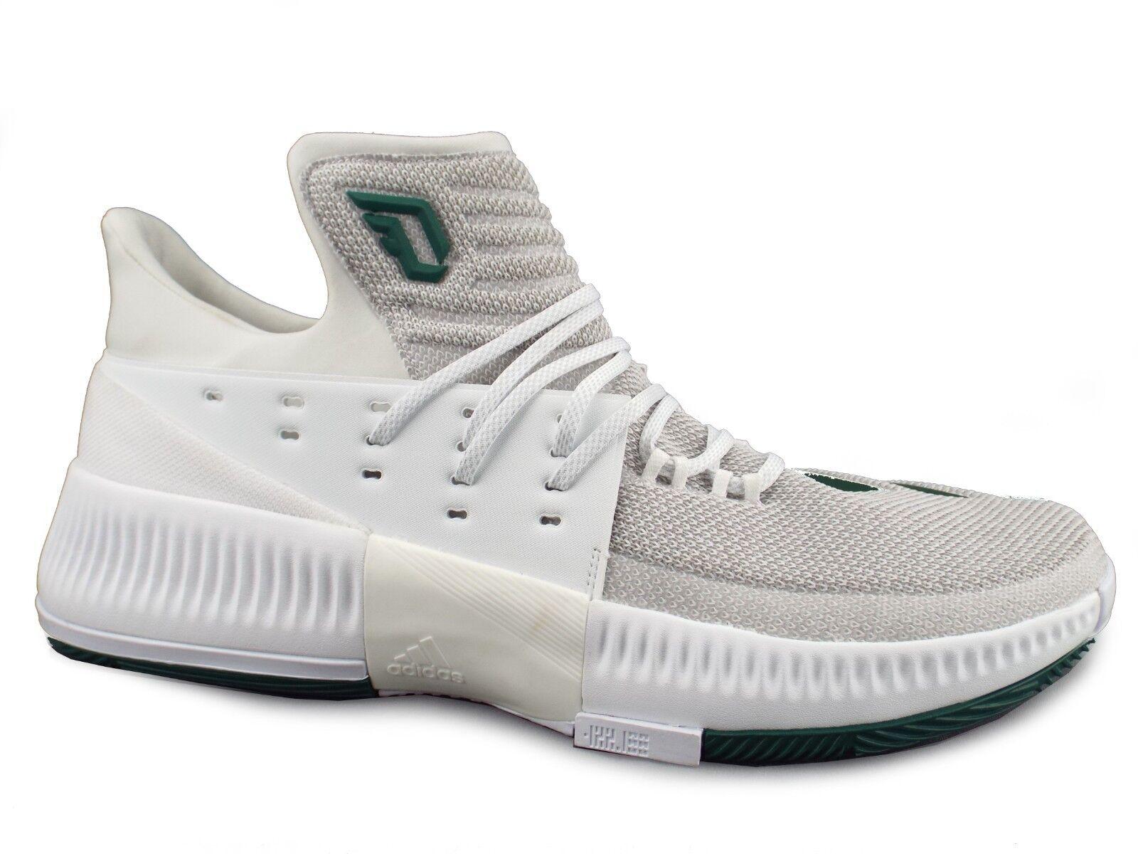 NEW Adidas Dame 3 Damian Lillard Men's 17 White Green Basketball Athletic shoes