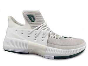 f32a089ba NEW Adidas Dame 3 Damian Lillard Men s 17 White Green Basketball ...