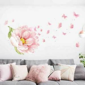 Large Peony Flower Blossom Wall Stickers Kids Baby Nursery Decor Mural Decal