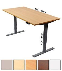 elektrisch h henverstellbarer schreibtisch ergonomischer steh sitz tisch ebay. Black Bedroom Furniture Sets. Home Design Ideas