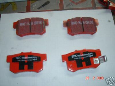 ROVER MG ZR ZS 160 180 BRAKE PADS EBC RED STUFF REAR NEW