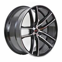 4 Gwg Wheels 22 Inch Staggered Black Machined Zero Rims Fits Dodge Charger Srt H