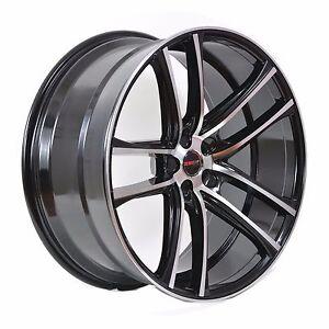 4 gwg wheels 22 inch black machined zero rims fits et18. Black Bedroom Furniture Sets. Home Design Ideas
