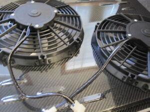67 68 69 Chevy Camaro Radiator Fan Shroud Custom Carbon Fiber & Dual