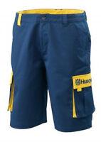 Genuine Husqvarna Team Shorts Men's Cargo Shorts Blue $49.99 Free Shipping