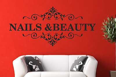 Nail & Beauty Salon Wall Art Quote Sticker Hair Beauty Salon Hairdresser Decal