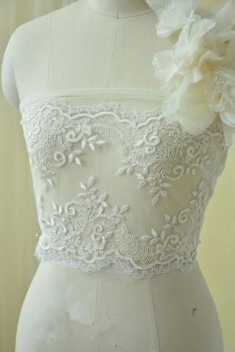 Robe De Mariage Cordon tissu en dentelle broderie ivoire fleurs robe de mariage Tulle 1 Y