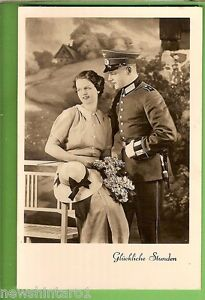 #J106. WWII POSTCARD OF GERMAN SOLDIER AND LADY