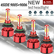 90059006 4 Bulbs Combo 18000lm Cree Led Headlight Kit High Low Beam Light Bulbs
