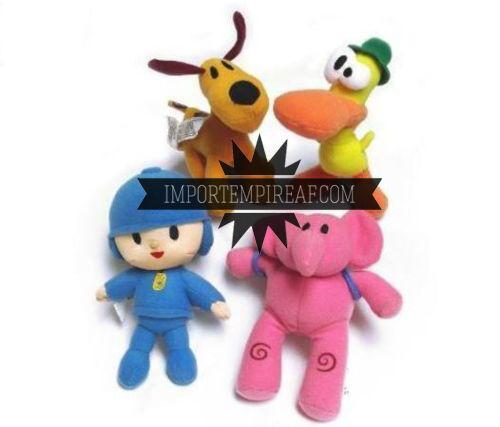 Hinchable Set 4 Peluche Muñecos Personajes Pato Elly Loula Cartón Plush Doll