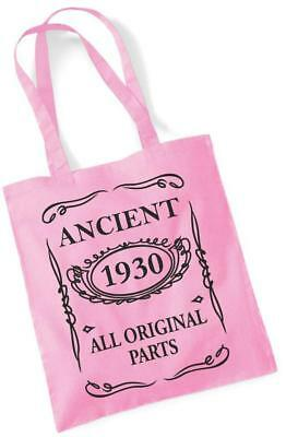 77th Birthday Gift Tote Shopping Cotton Fun Bag Vintage 1943 All Original Parts