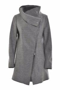 long tissu pour la femmes décontractée Deha laine Manteau de en à gris mode fHCn4C1wq