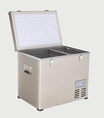 47 Qt Portable Chest Freezer & Refrigerator Compact 12v/24v Dc & Ac Power Cooler