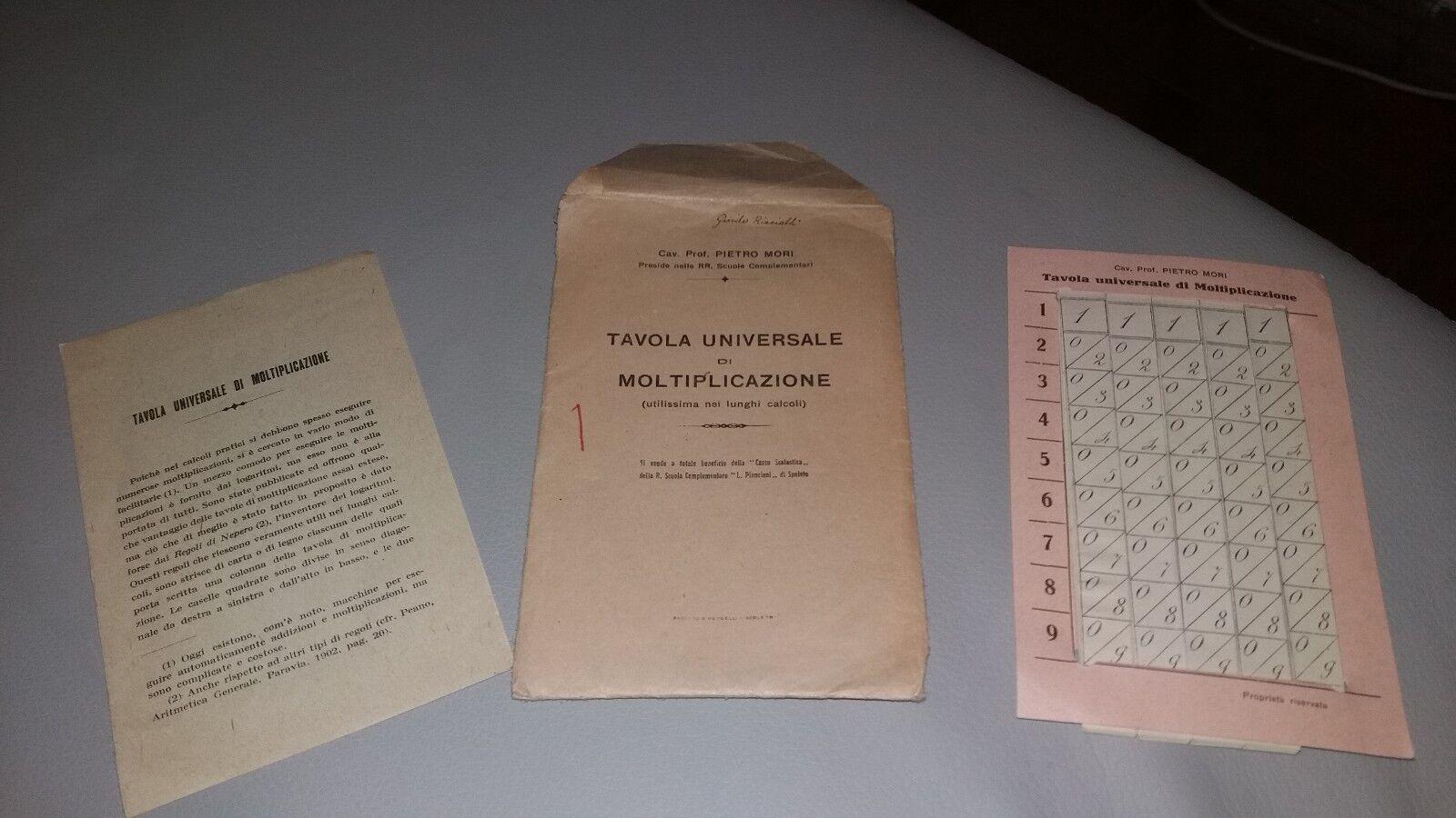Tavola universale di moltiplicazione anni 60