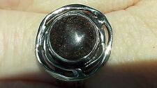 Ring Matrix Opal schwarz aus Honduras Sterling Silber 925