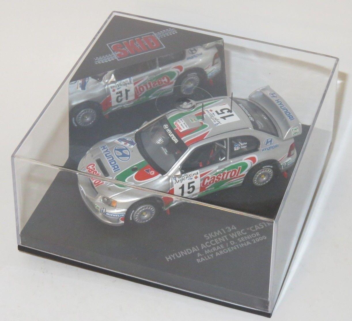 1 43 HYUNDAI ACCENT WRC CASTROL ITALIANA di Rtuttiy argentoina 2000 A. McRae D. Senior