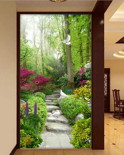3D Garten Stein Pfad 73 Tapete Wandgemälde Tapete Tapeten Bild Familie DE Summer | Gute Qualität  | Hohe Qualität und günstig  | Haben Wir Lob Von Kunden Gewonnen