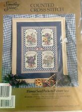 "Cross-stitch Kit ""Flower Seed Packets"" Candamar Designs Something Special 50768"