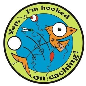 HOOKED-ON-CACHING-PATHTAG-GEOCOIN-New-U-T