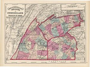 1872-Map-of-Cumberland-Franklin-amp-Adams-Counties-Pennsylvania-Original