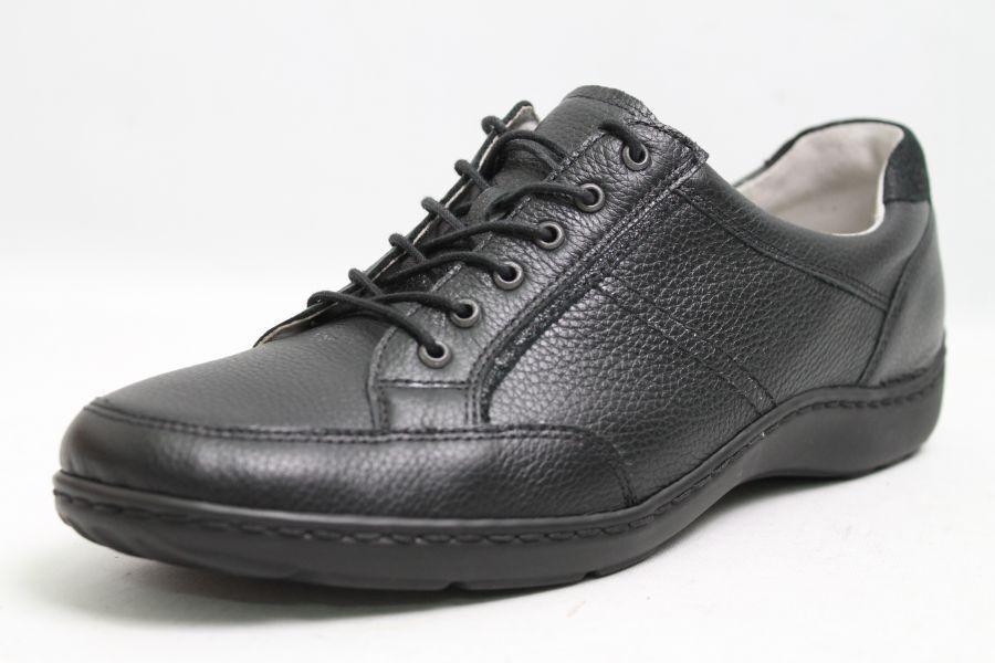 Waldläufer Schuhe schwarz echt Leder Wechselfußbett Schuhweite H