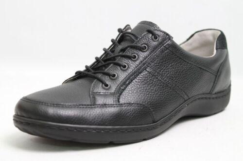 Rôdeur Chaussures Noir en Cuir Véritable changement Semelle Intérieure Chaussure Largeur H