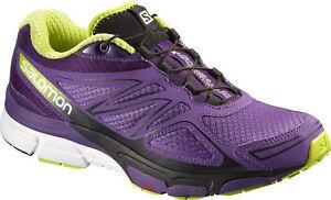 57686d8d5ab Salomon X-Scream 3D Womens Trail Running Shoes Purple Offroad ...