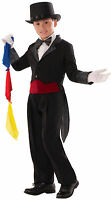 Kids Magician Black Tailcoat With Hidden Pocket Child Size Small 4-6