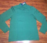 Pendleton Woolen Mills Mock Neck Pullover Long Sleeve Green Shirt Size Small