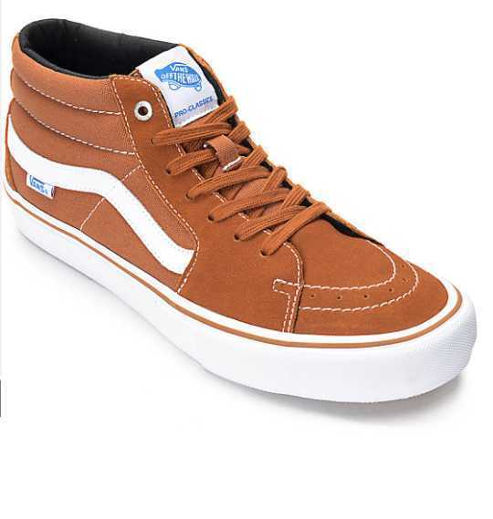 Nuevo En Caja Para Hombre 8 9 10.5 SK8-MID SK8-MID SK8-MID Pro Esmaltado Jengibre Vans Zapatos De Skate e1f603