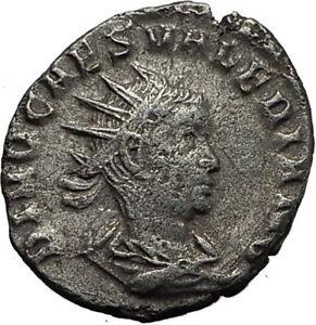 Divus-VALERIAN-II-Roman-Caesar-CONSECRATIO-Ancient-Silver-Roman-Coin-RARE-i65426