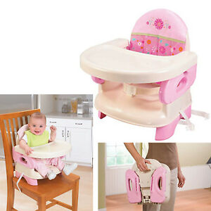 Details about High Chair Booster Seat For Toddlers Infant Portable Baby  Traveling Girls Pink