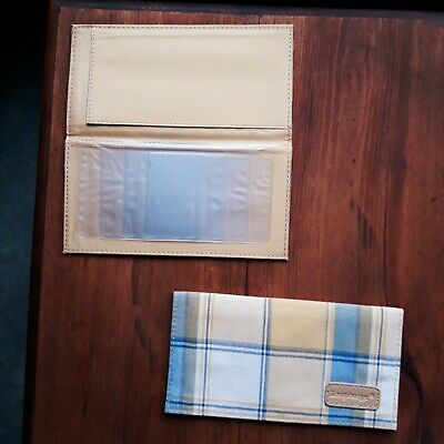 RARE NEW Longaberger CHECKBOOK COVER Collector Club Fabric removable photo inser
