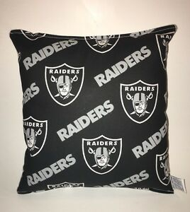 Raiders-Pillow-NFL-Pillow-Oakland-Raiders-Pillow-Football-Pillow-HANDMADE-In-USA